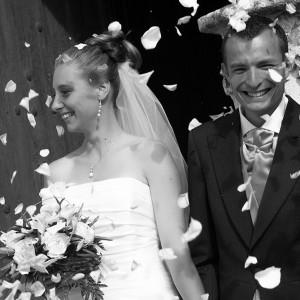 Sortie des mariées à l'église